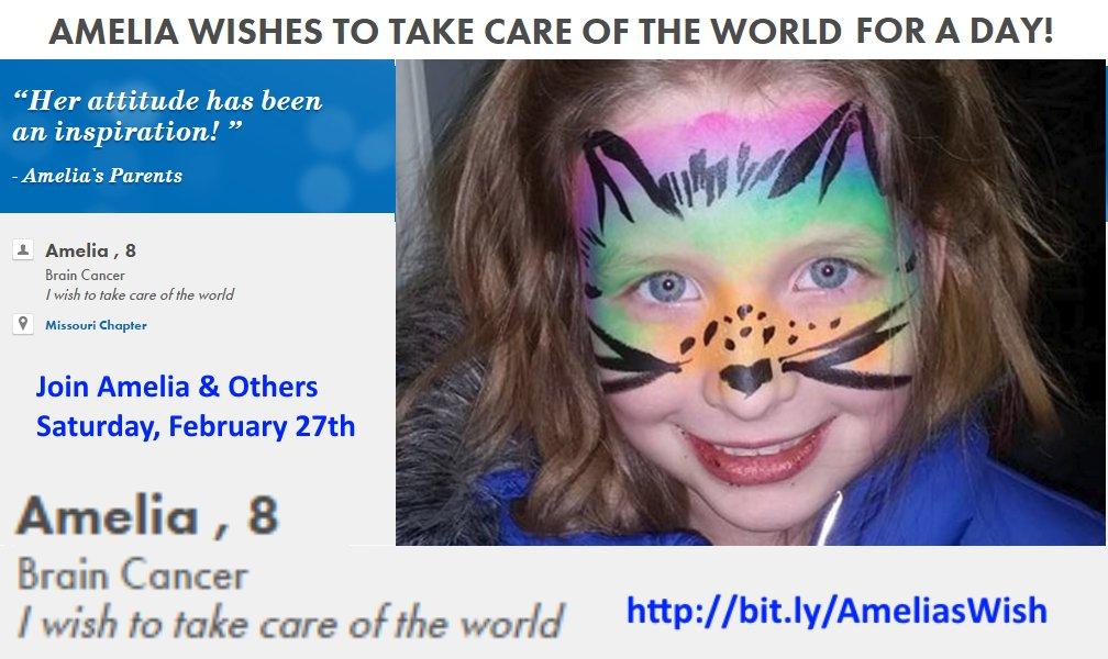 Help grant #AmeliasWish Organize community clean up efforts, Sat, Feb 27th @MakeAWish https://t.co/PnIsSOTZPC https://t.co/U9HFG8teBr