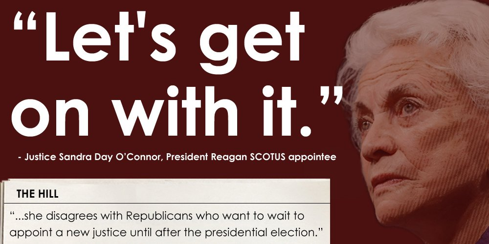 Every SCOTUS nominee in history has had a vote w/in 125 days. Reagan's Justice O'Connor is right: #LetsGetOnWithIt https://t.co/mwJeu2W4HE