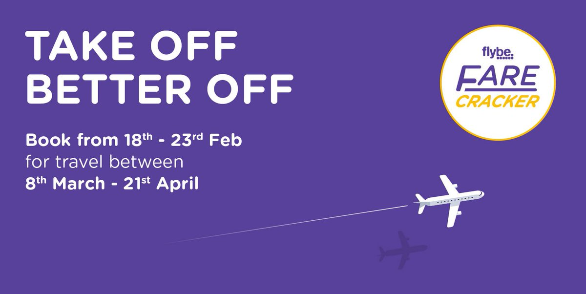 Fast-forward to spring with new Farecracker deals from flybe! Book by 23/02, fr £24.99 ow.