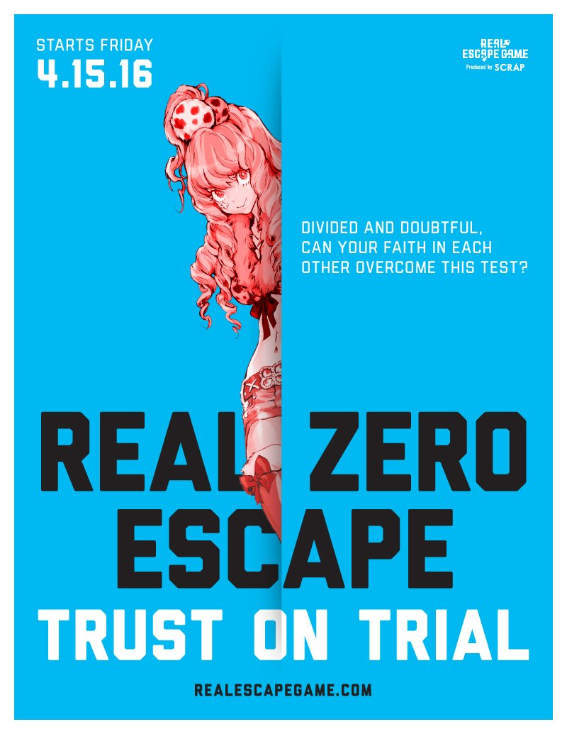 """Play #ZeroEscape and think """"I'd love to risk being blown up and killed with an ax""""? Thanks to @RealEscapeLA you can! https://t.co/Ffwtbbi5D7"""
