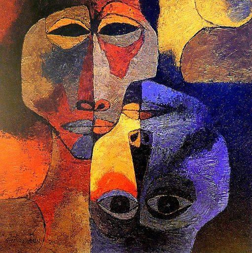 'The Lovers' 1989 - Oswaldo Guayasamin https://t.co/LhlOndC5L2 via @literatura_rte