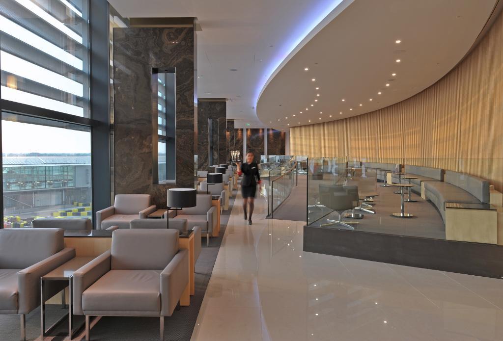 Notre salon Feuille d'érable de l'aérogare 2 à Heathrow vous offre un traitement royal!