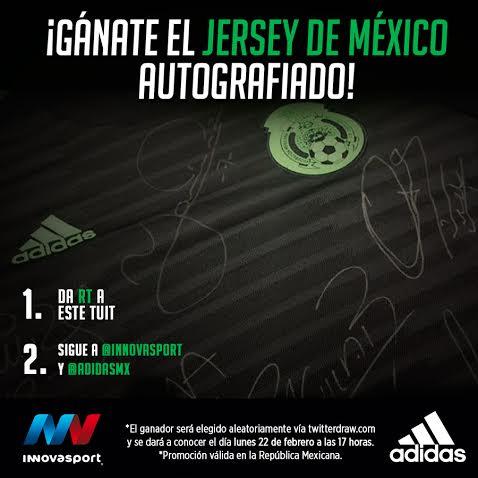 ⚠ ATENCIÓN ⚠  ¡Da RT y participa por el jersey @adidasMX de la Selección Mexicana autografiado!  #Innovasport ⚽