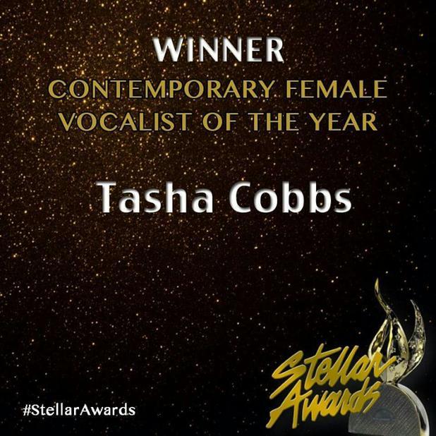 Congratulations to @tashacobbs winner of Contemporary Female Vocalist of the Year. #StellarAwards https://t.co/DzKjFWUVdv