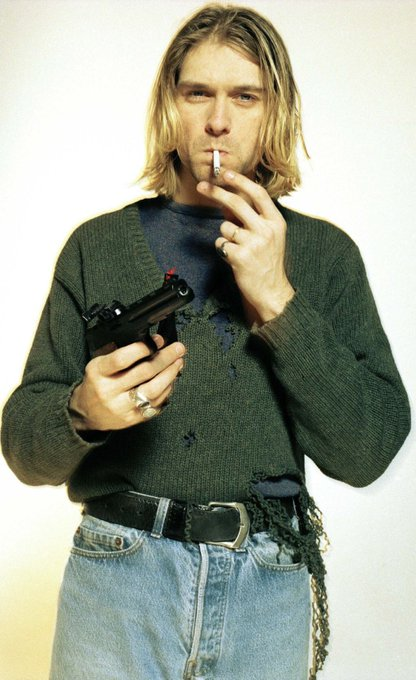 Happy birthday to the dude who saved rock music, the voice of a generation, Kurt cobain