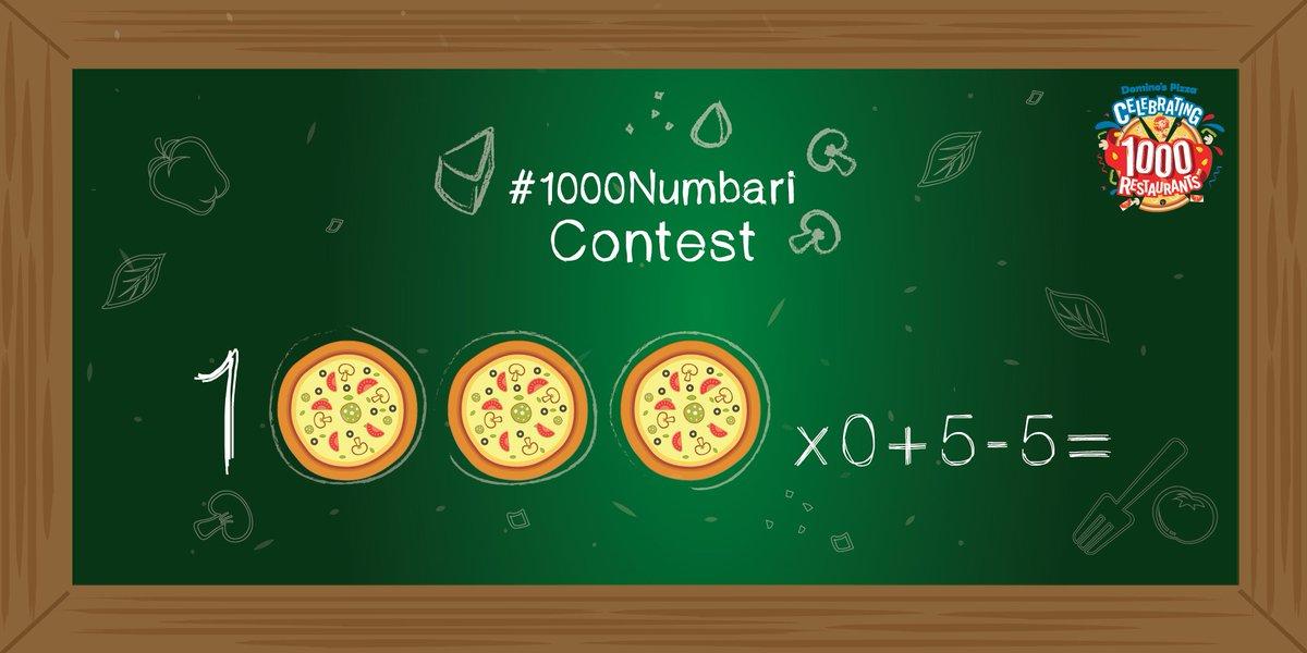 #1000Numbari #Contest Q1. 1000 X 0 + 5 - 5 = https://t.co/0B8nQU36Cj