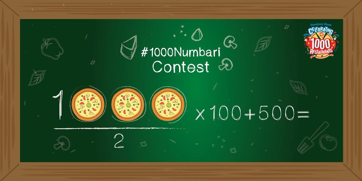 #1000Numbari #Contest Q2. 1000/ 2 X 100 + 500 = https://t.co/QZRdB17IDY