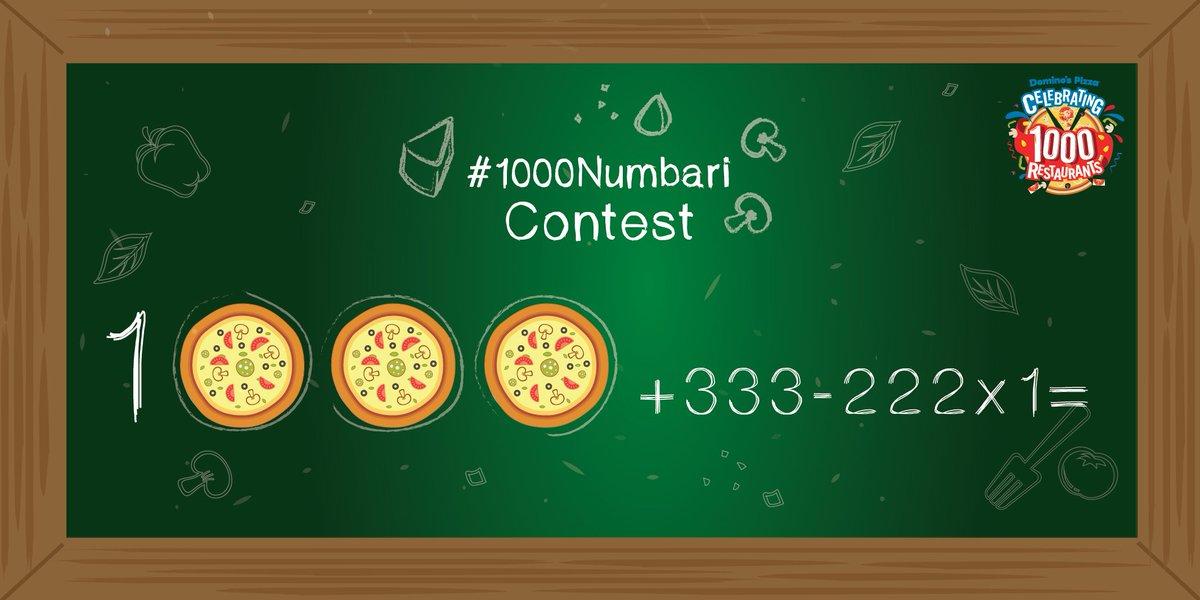 #1000Numbari #Contest Q3. 1000 + 333 - 222 X 1 = https://t.co/gJUVTplElX