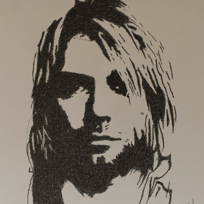 Happy birthday, Kurt Cobain! Art by John Halliday... »