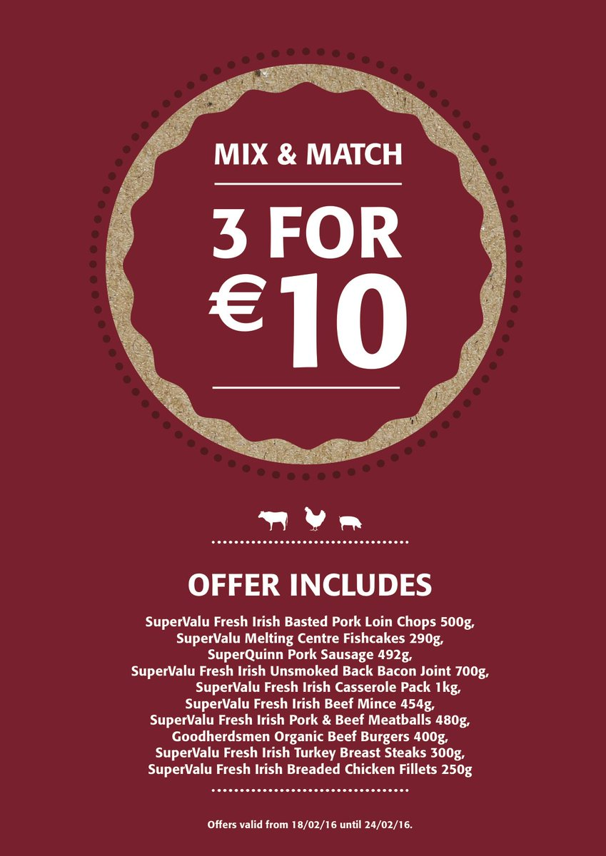 Mix and Match Offers in store now... good food value! https://t.co/IwPA1FyhFH