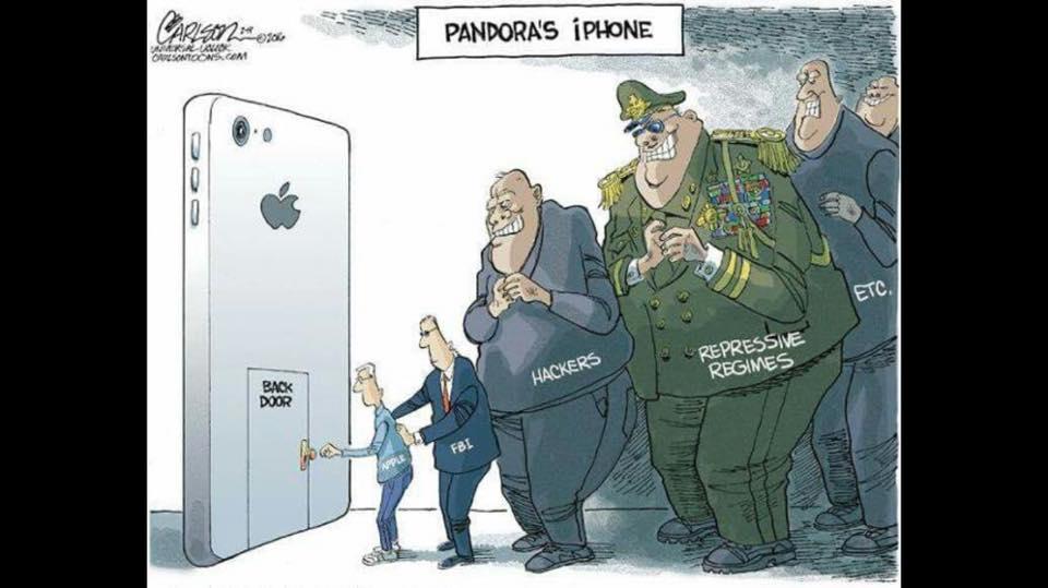 A good way of visualising the FBI vs Apple debacle https://t.co/1miNTKWORH