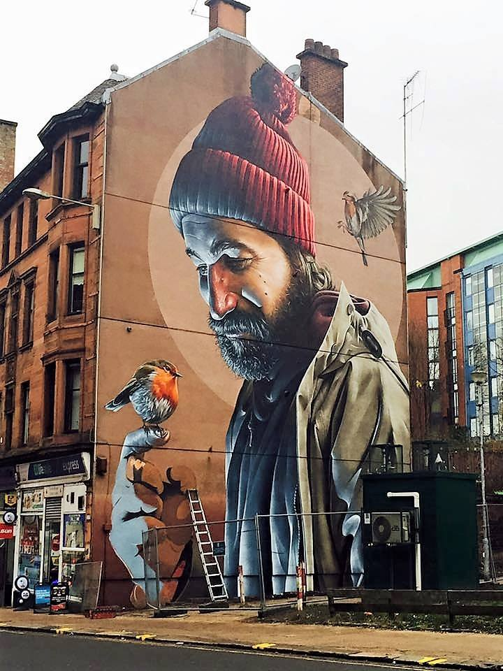 Great mural on High Street #Glasgow by local artist Smug  Pic: Corrie Martin via @LostGlasgow https://t.co/wH0Ldw07AY