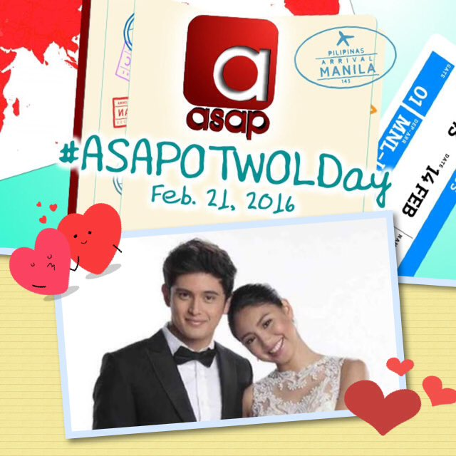 Oh Yes!!! Let's celebrate love, love, love with James and Nadine mamayang 12NN ❤️❤️❤️ #ASAPOTWOLDay https://t.co/sZskzjse2v