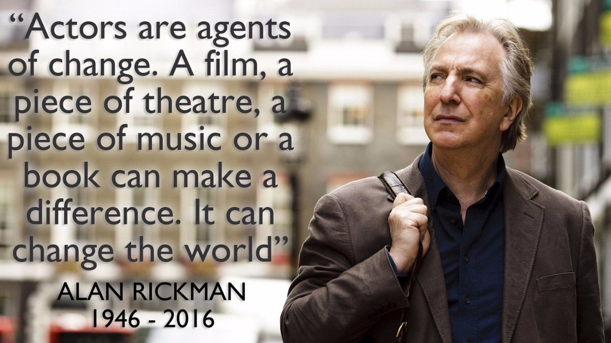 Wise words from the late, great #AlanRickman who would have celebrated his 70th birthday today https://t.co/T7tjBOEWj0