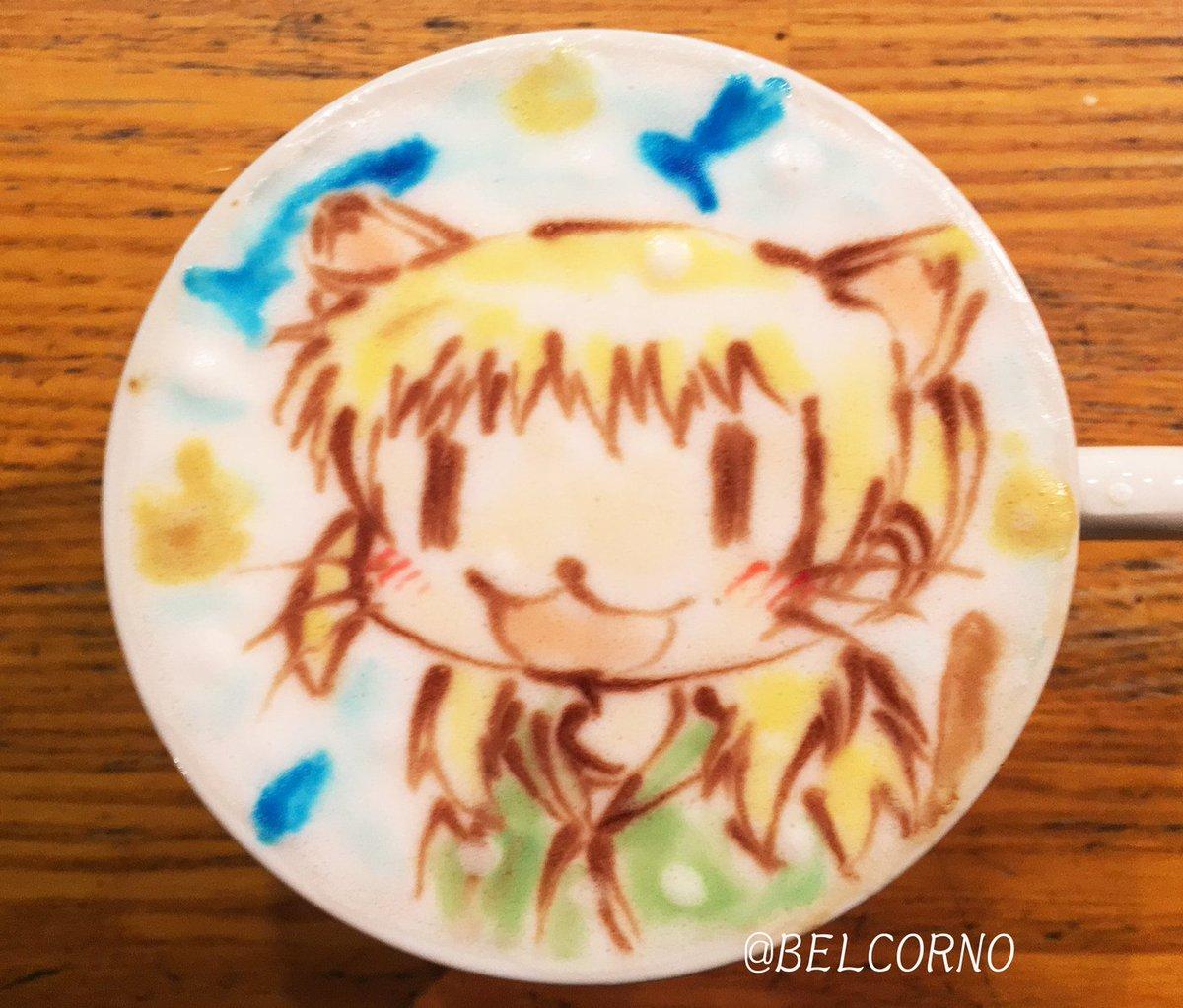 ラテアート【宮子】@ひだまりスケッチLatteArt【Sunshine Sketch】「猫の日」ということでご注文頂きま