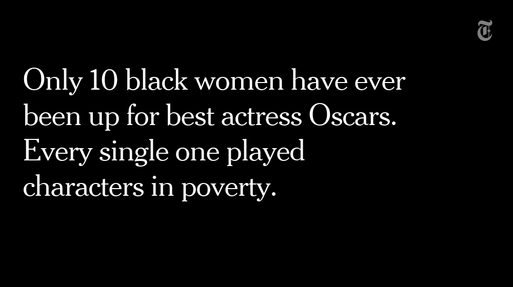 Watching the movies where black women were nominated for #Oscars produced these stats https://t.co/de8FEaaaoU https://t.co/WbJ3mDcPfv