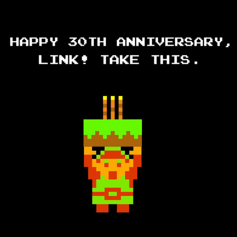 Happy 30th anniversary, Link! Take this: https://t.co/0IR0v1E9oi https://t.co/6NvvG5tLte