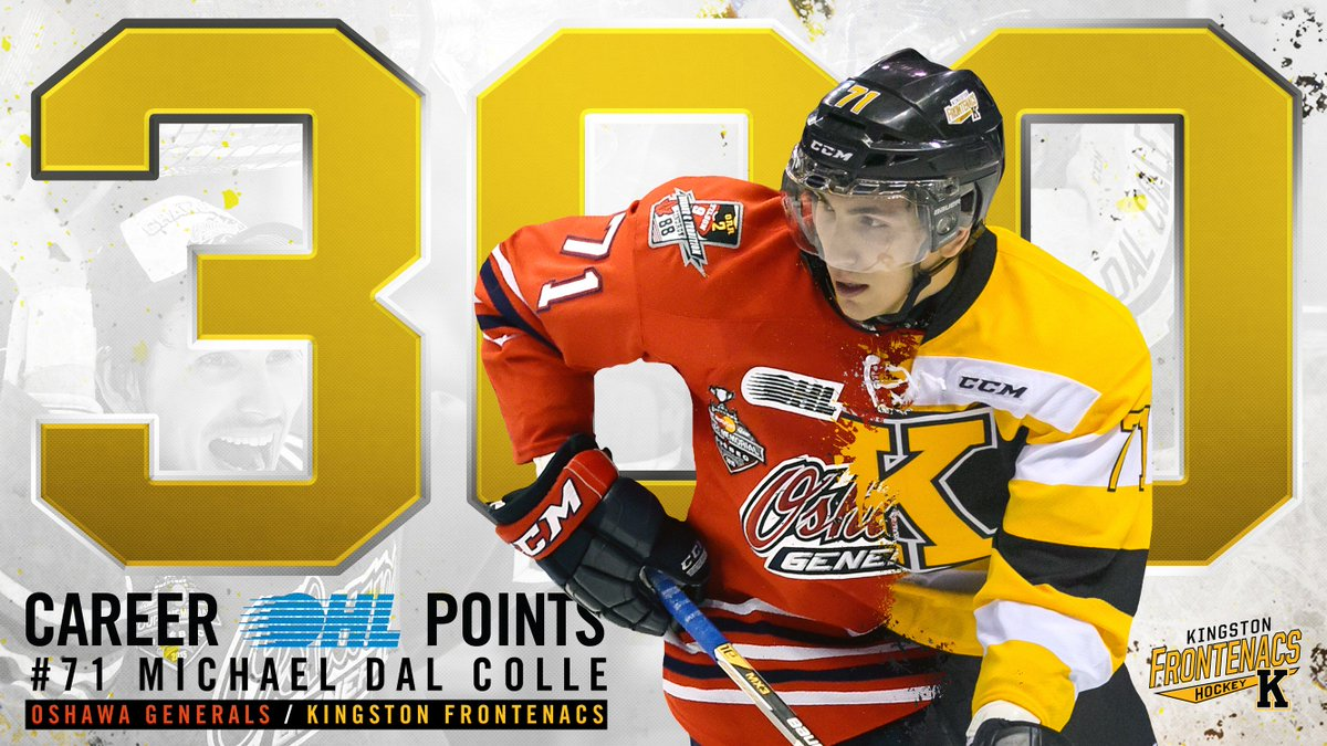 CONGRATS to #NYIsles prospect #71 Michael Dal Colle on earning his 300th (301st, & 302nd) career #OHL point! #Legend https://t.co/ZNPkx9YRVQ