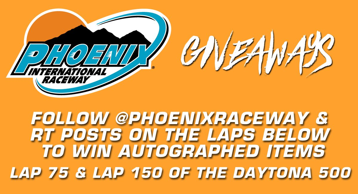 We're giving away autographed gear during today's #DAYTONA500!  Follow @PhoenixRaceway & RT Posts for chance to win! https://t.co/0bvcajFGQe
