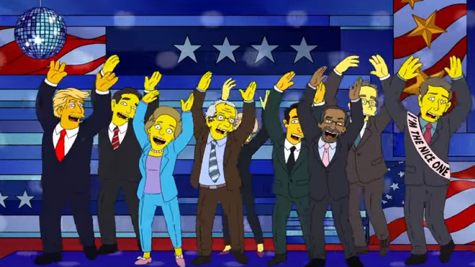 Watch 'The Simpsons' Mock the 2016 Presidential Race