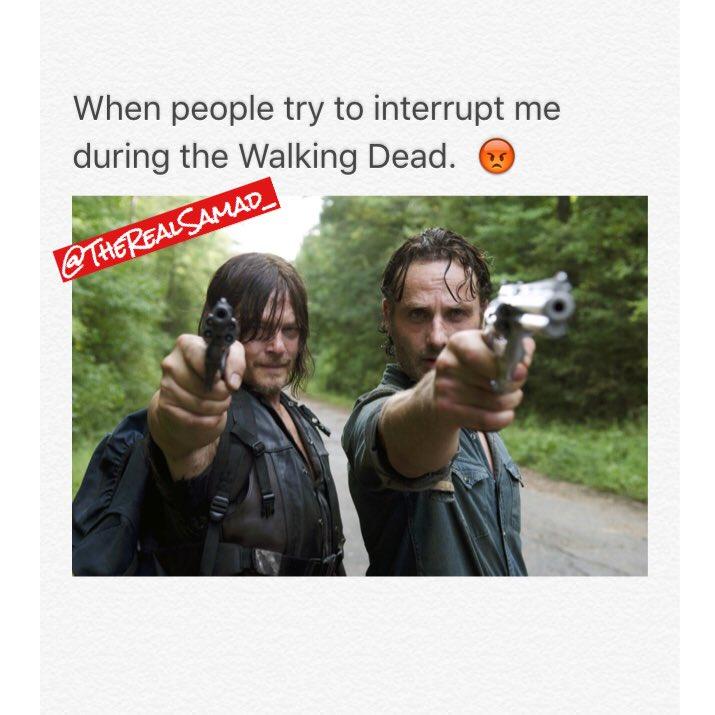 People trying to interrupt my show!  #twd #thewalkingdead @WalkingDead_AMC @AMCTalkingDead https://t.co/e9vMcl7Jlz