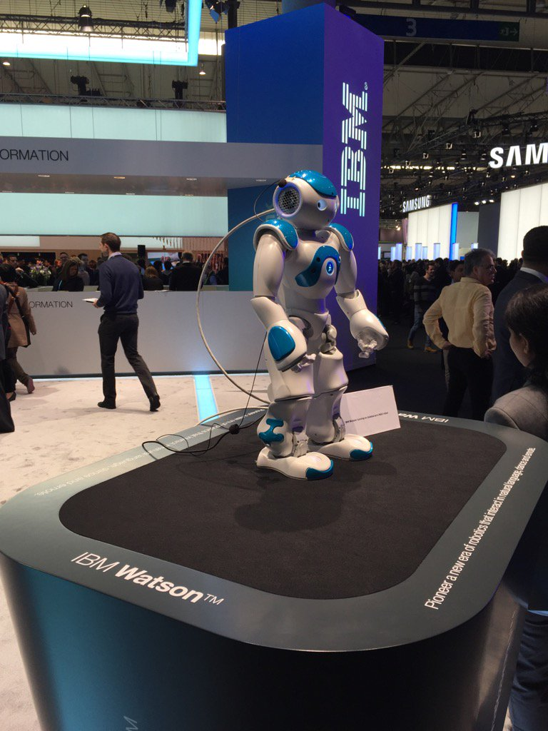When our robot overlords finally arrive... They will be really cute. #MWC16 #IBM https://t.co/dCfGtXwBs6