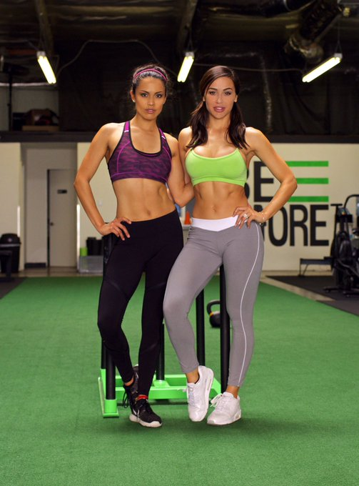 Have you checked out @_anacheri and me working out together yet? https://t.co/5dP9BfT8HI #AnaCheri #RaquelPomplun