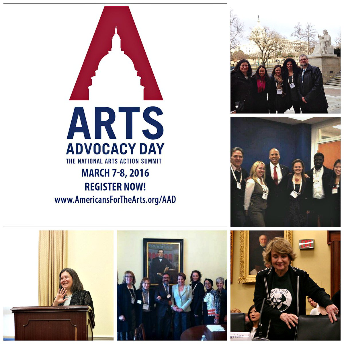 Arts Advocacy Day is here! Take action, even if you can't make it to The Hill: https://t.co/RXsQWSDAOz #AAD2016 https://t.co/2mQbmy7jgh