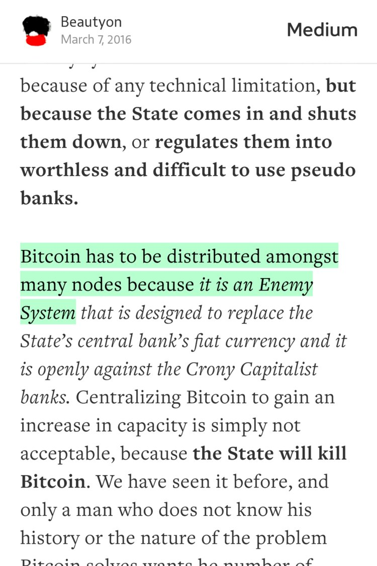"""""""Bitcoin has to be distributed amongst many nodes precisely because it is an Enemy System"""" https://t.co/9dLkraUmkR https://t.co/jsbUGfP8mL"""
