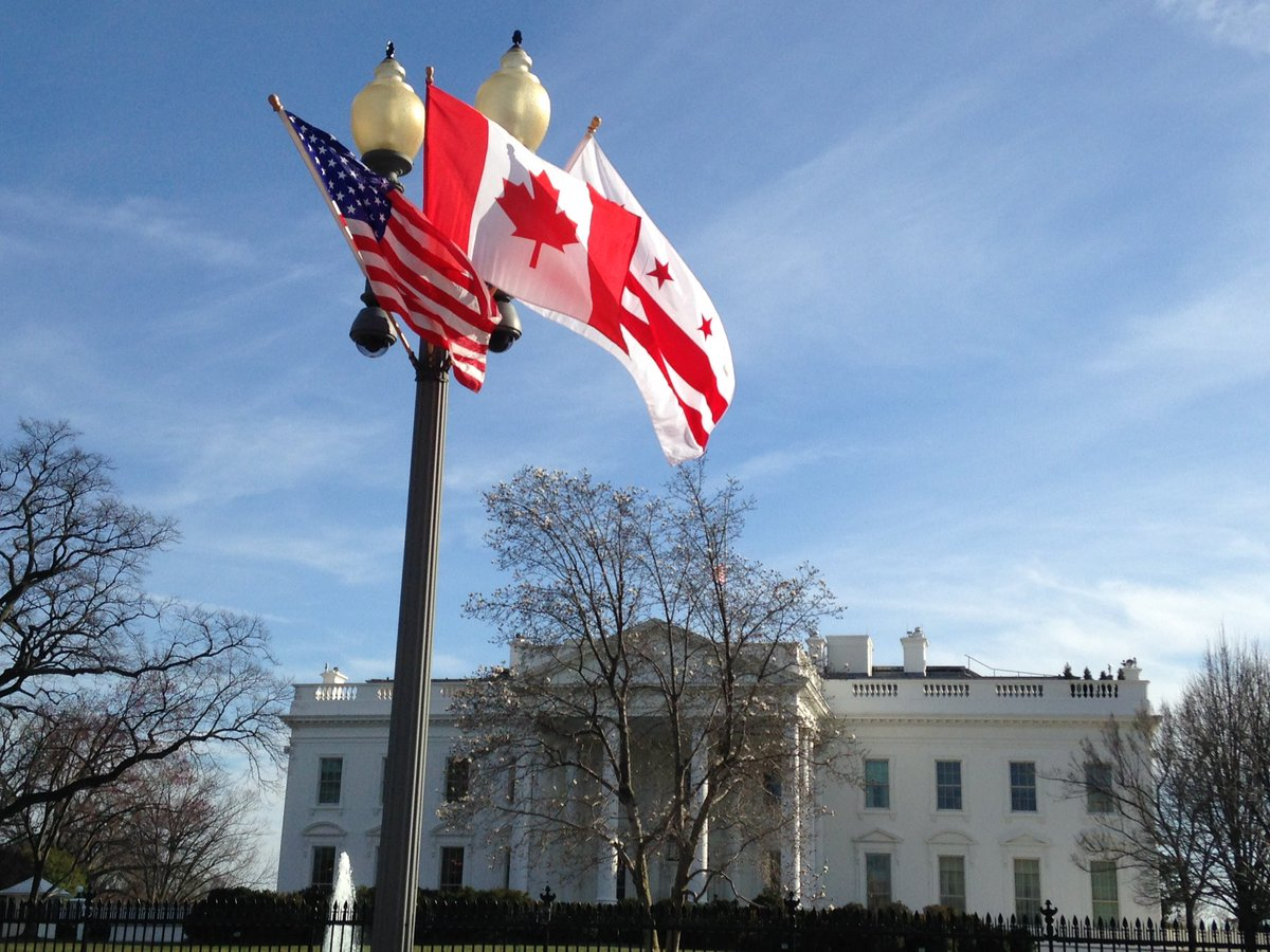 Canadian flags everywhere in DC. #statedinner #CanadainDC https://t.co/SgsF0tGcbJ