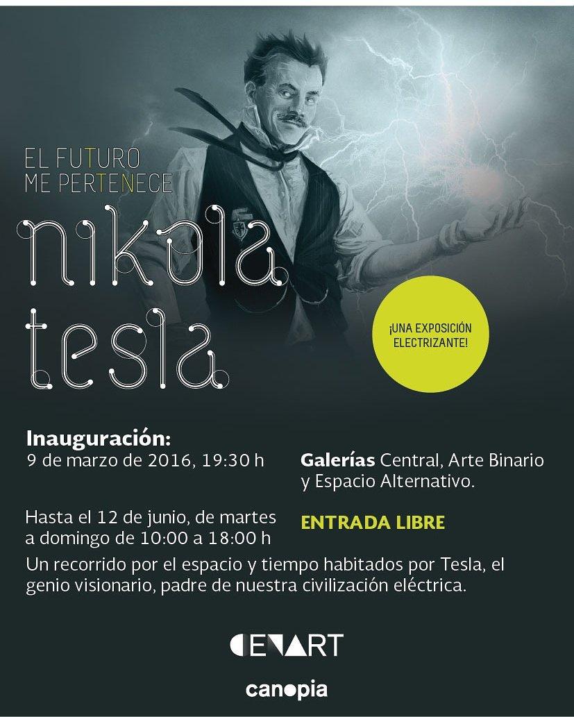 Super emocionado de que esta semana inauguran en @cenartmx la exhibición de #NikolaTesla :) tks @cultura_mx https://t.co/iSWDwneYWk