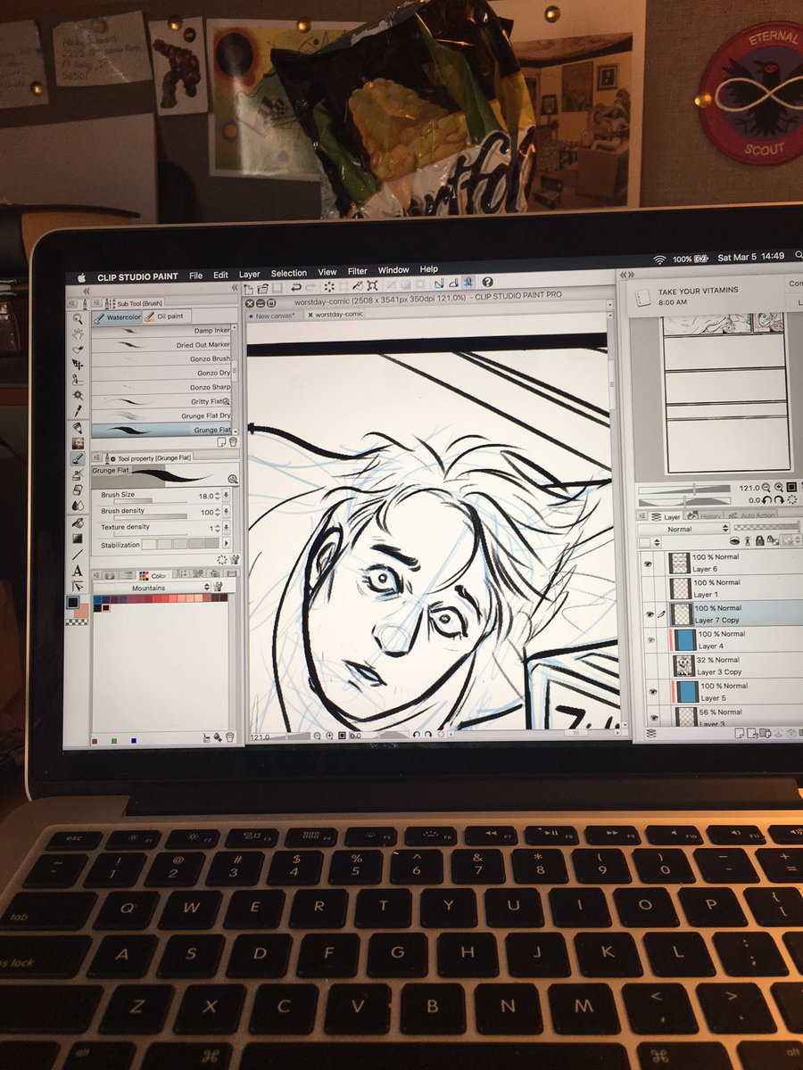 RT @kayvsworld: Working on a lil comic for the Comic Collective over @hitRECord https://t.co/NkhdPJv9Rq https://t.co/Kvfh97dBIg
