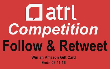 Follow us and RT this tweet for the chance to WIN an Amazon Gift Card!  #atrl #competition #giveaway https://t.co/Zw1caJDjxt