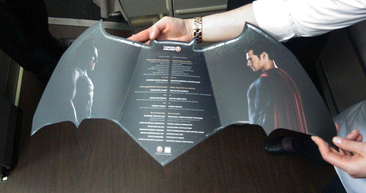 Türk Hava Yolları'nın #Batman V #Superman yemek menüleri enfes olmuş. @TurkishAirlines https://t.co/K4hLzrLok4