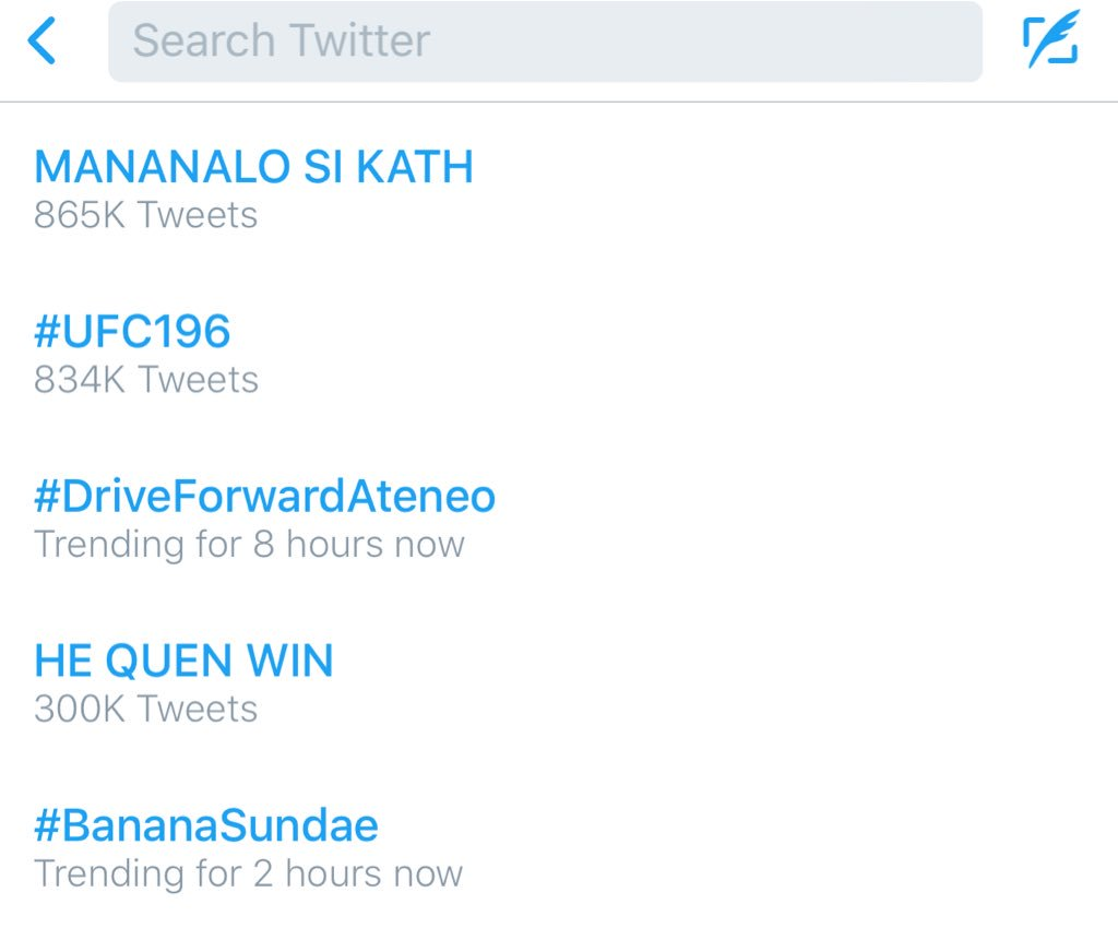 MANANALO SI KATH trending number 1 in @Twitter. Keep voting #VoteKathrynFPP #KCA https://t.co/OYJtpNa1Da