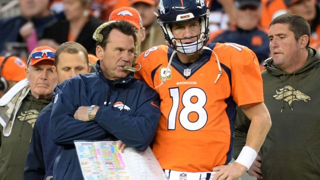 """He's a Hall of Fame player and a Hall of Fame person, and I wish him all the best in the future."" Kubiak on Manning https://t.co/tVCnh0B5Mu"