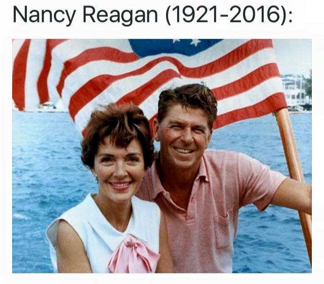 Thank you Nancy Reagan for your service & amazing contributions during an era of bold reforms and political courage. https://t.co/31ssVvfa1k