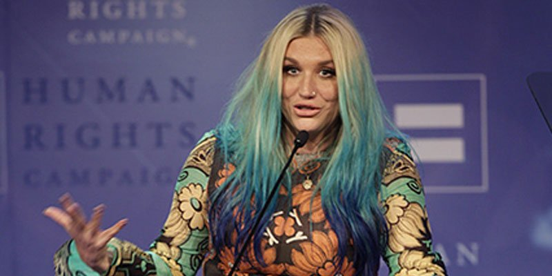 Kesha tears up while receiving LGBT equality award during ongoing legal battle with Dr. Luke
