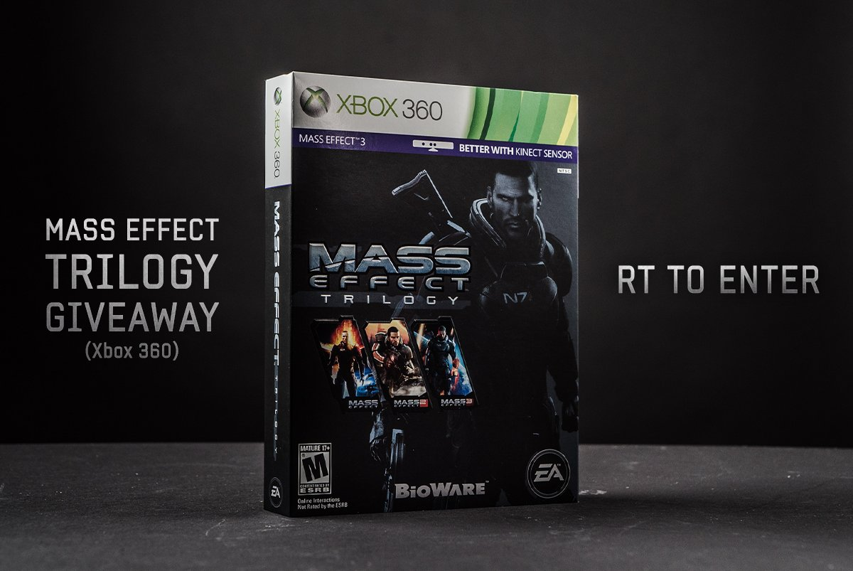 Next up is a copy of the #MassEffect trilogy for Xbox 360. RT for a chance to win. https://t.co/yjCLrUIawM