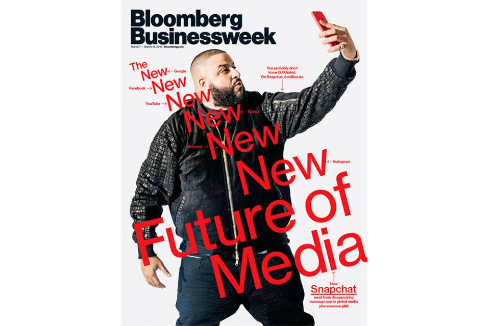 Boasting 6M followers In 4 mos, @DJKhaled schools Bloomberg @Business on growth of @Snapchat https://t.co/l8ZyfcSndn https://t.co/4koZTok9Of