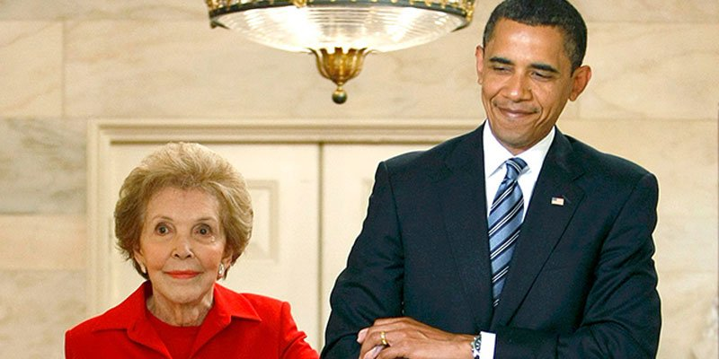 Barack and Michelle Obama remember the late Nancy Reagan's 'warm and generous advice'