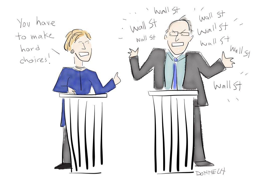 Hillary and Bernie. #DemDebate https://t.co/ajSmUPsLCc