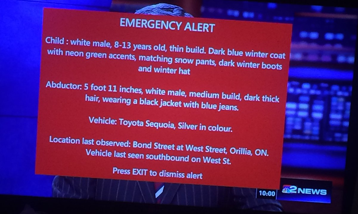 Well that was interesting never seen a #AmberAlert ever fill my tv screen before @TPSChrisBoddy @AMBERAlertONT https://t.co/qGdQxkZoml