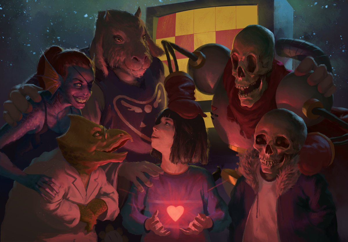 I'd say this is the coolest realistic piece of #Undertale art that I've seen yet!  Original: https://t.co/lFiKoqmcuv https://t.co/cWAwAYOlTO