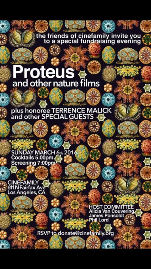 Beautiful curated program of nature film excerpts @cinefamily. I want to see Proteus in full. And rewatch The Bear. https://t.co/UoM9bHLg1q