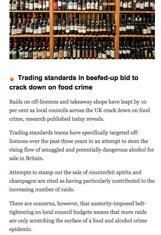 Trading standards in beefed-up bid to crack down on food crime via @thetimes #thebrief #Legal #Foodcrime https://t.co/bvudLGUMsZ