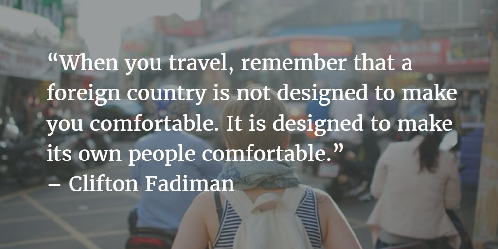 Feeling uncomfortable while travelling abroad? Keep this in mind! #ttot #mondaymotivation https://t.co/7V4YwdE6yI