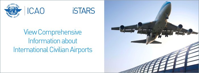 View comprehensive information about international civilian airports