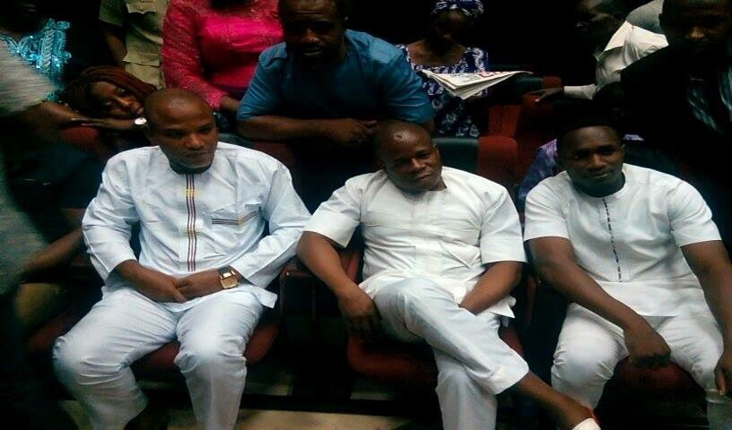 Nnamdi Kanu'a Attire To Court Today (Photos)