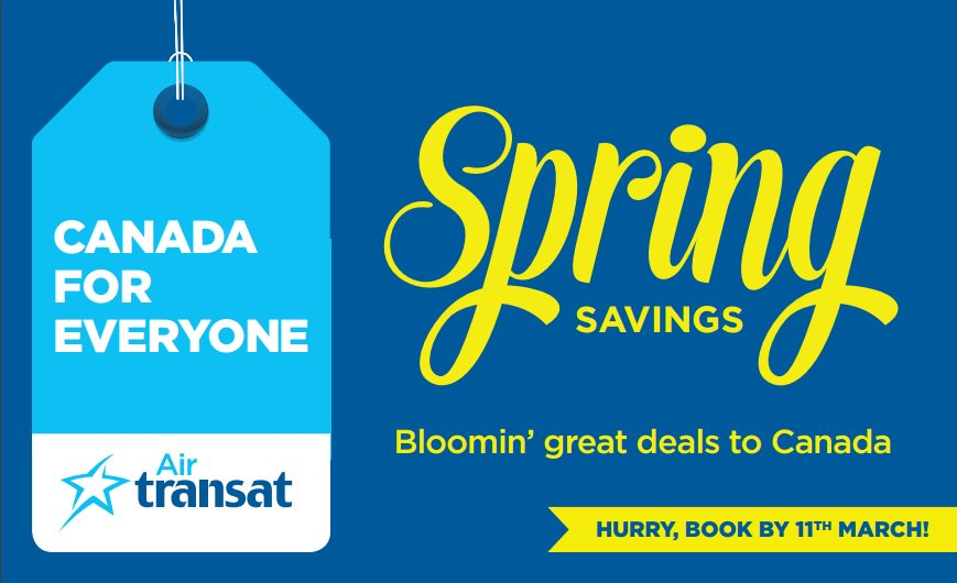 Bloomin' great deals to Canada from @Manairport with @airtransat-incredible value from £316